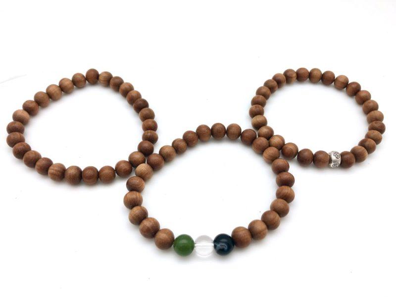 sandalwood gemstone om bracelets