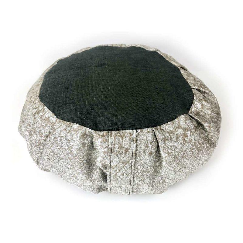 Silver Meditation Cushion - silver black cushion