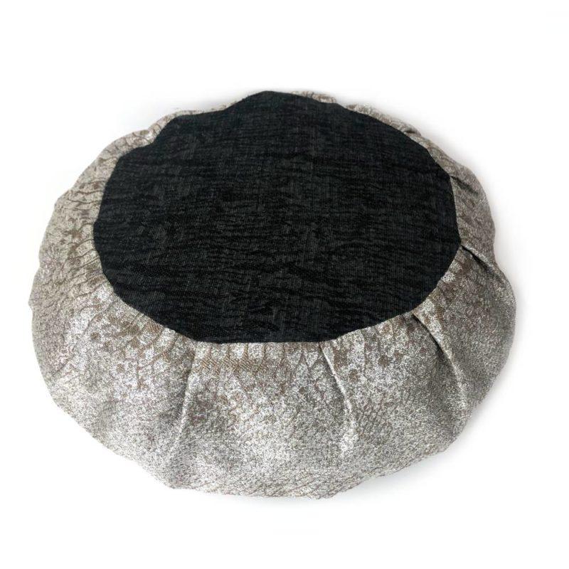 silver grey cushion