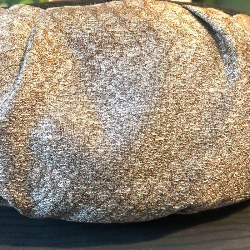 Silver Meditation Cushion - silver meditation cushion side