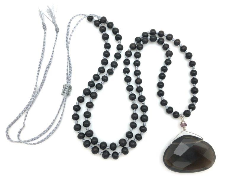 Smoky Quartz Necklace - smoky quartz pendant necklace on ebony fs scaled