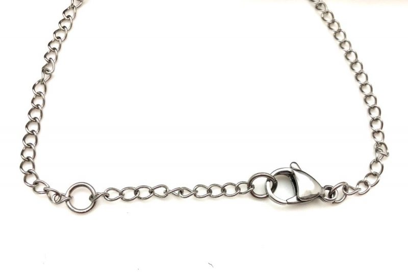 Raw Crystal Necklace - steel chain w