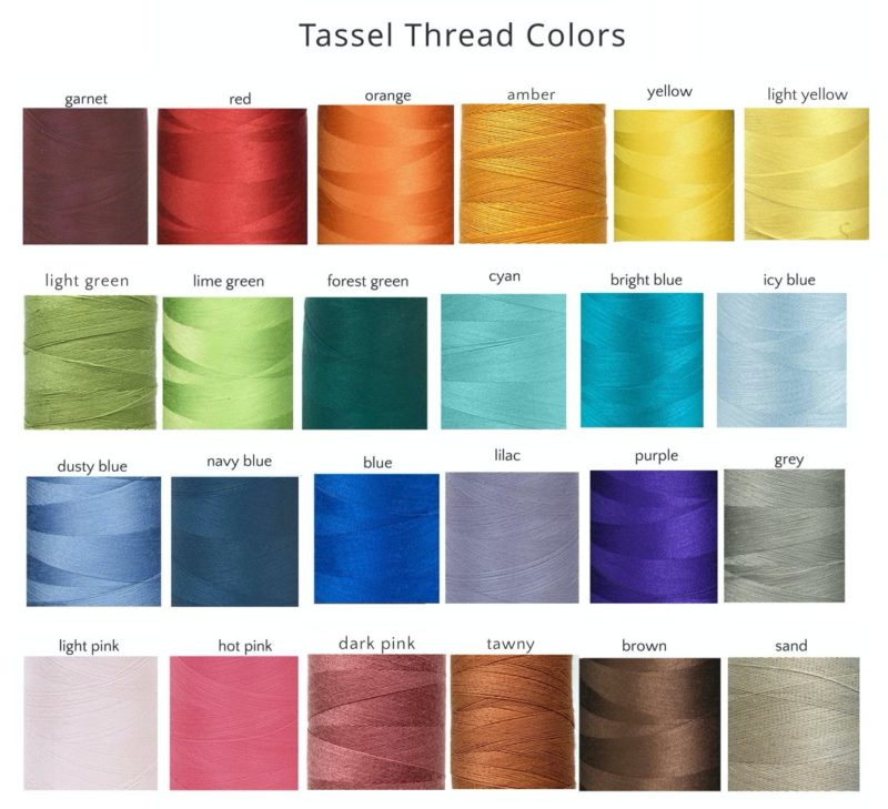 Custom Sandalwood Mala - tassel thread colors for custom mala