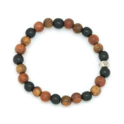tri wood om bracelet