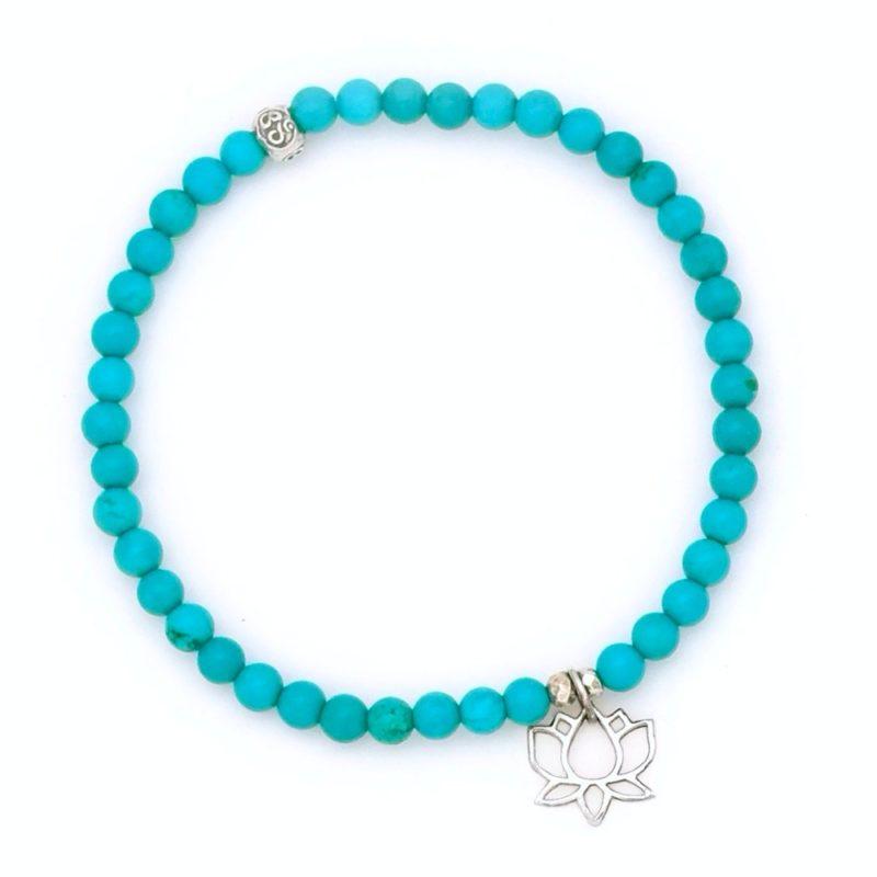 turquoise lotus bracelet