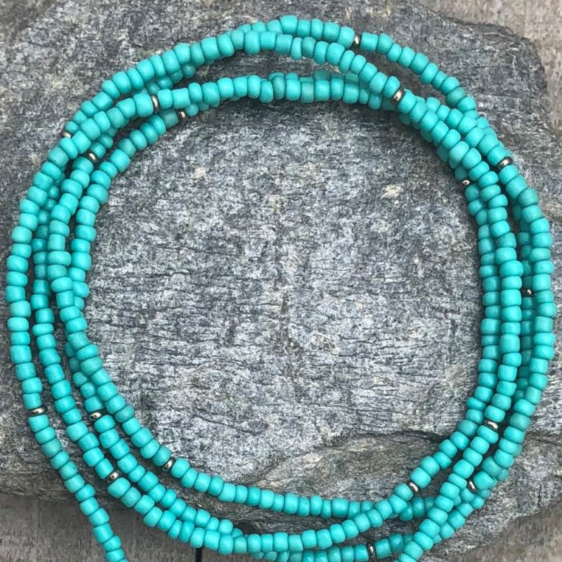 turquoise lotus necklace beads