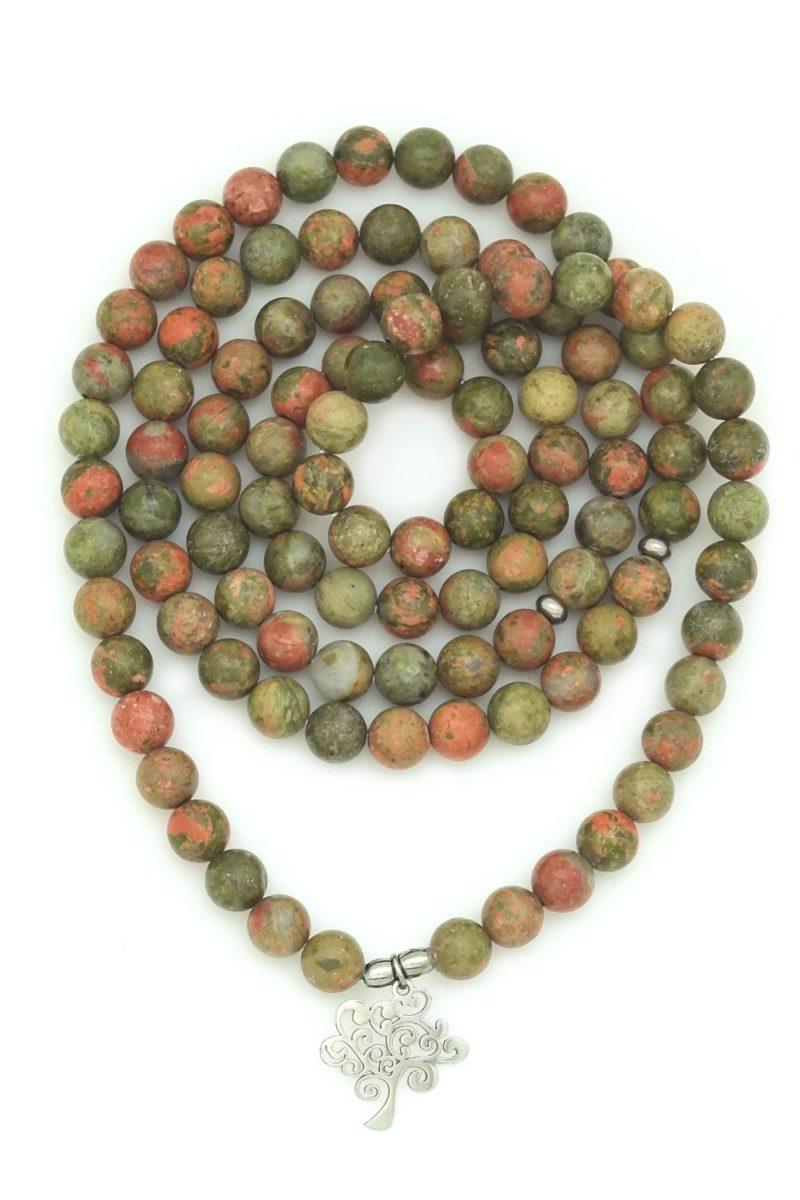 Awakening Prayer Beads - unakite tree mala wrap